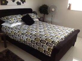 Next Black Portofino Double Bedstead, Fab Condition