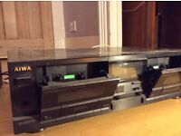 Aiwa AD-WX707 Twin Cassette Deck - for parts or repair job
