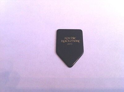 Ritchie Blackmore 2011 Black / Gold Guitar Pick Deep Purple