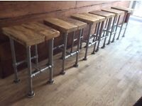 Wooden Bar Table and Stools