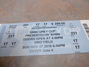 Two Pairs of Grey Cup Tickets Oakville / Halton Region Toronto (GTA) image 3