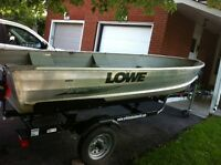 2003 Lowe 14ft Aluminum Boat and Accessories