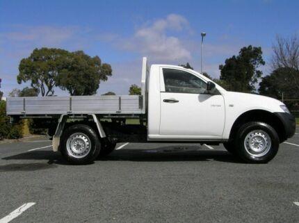 2009 Mitsubishi Triton ML GL TRAYTOP White 5 Speed Manual Single Cab Victoria Park Victoria Park Area Preview