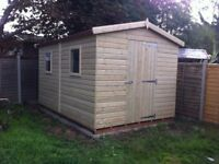 shed - brand new 10x6 £799, Tanalised wood - other styles & sizes available