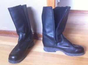 Women's Hillary Leather Winter Boots With Liner, size 10