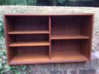 """Wooden Bookcase / Cupboard with glass doors width 34"""" height 19"""" depth 11"""" almost new £10"""