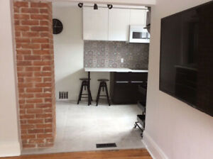 Renovated 1 bdrm + den downtown furnished
