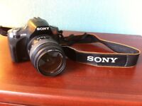 DSLR Sony alpha 330, with lens and carry bag.