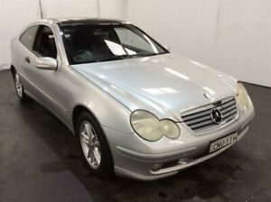 2003 Mercedes-Benz C-Class CL203 MY2003 C180 Kompressor Sports Silver 5 Speed Automatic Coupe Cardiff Lake Macquarie Area Preview