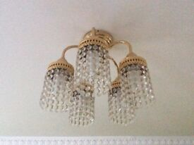 Gold Effect Light Fittings In Very Good Condition