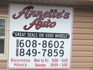 Used cars trucks Suv's Annette's Auto Sussex 608-8602///607-2751