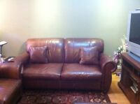 Beautiful brown leather couches
