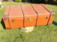 Vintage Bentwood Cabin Storage Trunk in Wonderful Well-Travelled Condition ! for sale  Crowborough, East Sussex