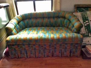 Groovy Vintage condo-sized couch REDUCED PRICE!