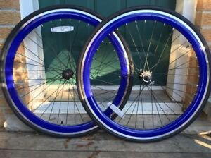 700c single speed / fixed gear wheel set with flip flop hub