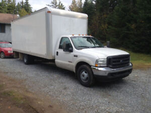 "2004 F350  21''2"" box clear top ,dry , former bread truck $5000."