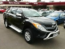 2012 Mazda BT-50 UP0YF1 XTR 4x2 Hi-Rider Black 6 Speed Auto Seq Sportshift Utility Berwick Casey Area Preview