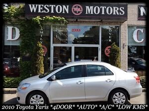 2010 Toyota Yaris 4 DOOR* AUTO* A/C* FULLY EQUIPPED* LOW KM* ACC