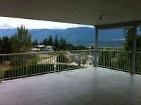 private 4 bdrm house with partial lakeview in salmon arm