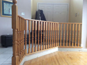 Oak Stair Banister and Railing Components