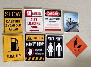 Construction Themed Party Signs