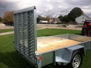 6x12 Galvanized Open high side trailer