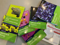 7 GCSE revision guides (biology, chemistry, physics and maths) (edexcel)