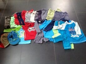 Bundle of boys shorts and sun tops/suits, age 1-2