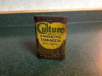 Culture Smoking Tobacco Tin