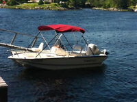 Center Console Cape Craft Boat and 90 HP Johnson Motor