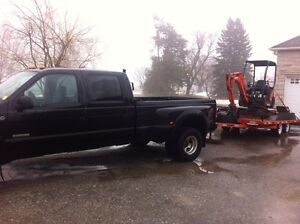 2003 F350 DUALLY PLUS MINI EXCAVATOR KX41-3V & FLOAT