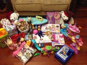 Huge Lot of Toys for Girl 3+ yo, 40+ items