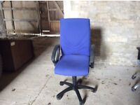 three swivel chairs - collection only