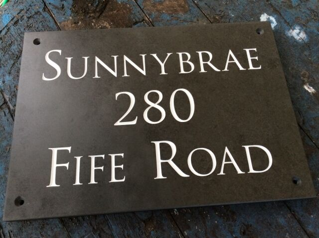 NUMBER! Personalised Slate House Sign 400mm x 300mm  ANY NAME High Quality