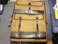 two branded suitcases