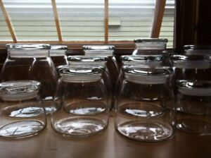 14 Glass Storage containers unusual shape