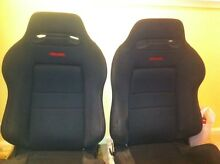 Recaro Suede Front & Rear Bucket seats suit nissan silvia skyline Hornsby Hornsby Area Preview