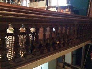 2 Balustrades d'église en chêne