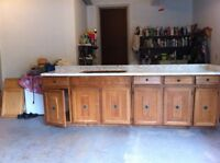 Maple Kitchen Cabinets, Countertop & Sink