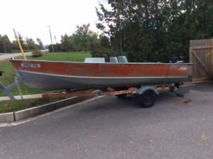LUND 16 FOOT FISHING BOAT WITH 25HP MERCURY