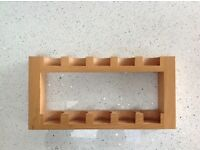 Wooden spice/herb rack wall mounted