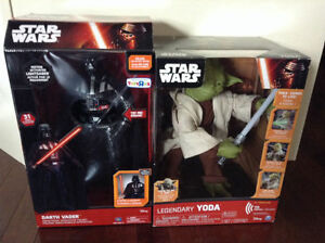 STAR WARS *** DARTH VADER AND YODA TOYS !!!