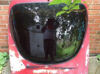 RARE MAZDA RX-7 REAR DOOR GLASS HATCH SANDED AND READY FOR PAINT