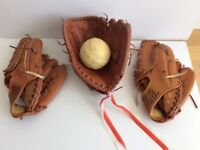 3 Professional Softball Baseball Gloves Mitts Catcher Outdoor Sports Left Hand + Free Softball
