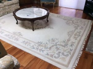 Wool Carpet-Table not for sale