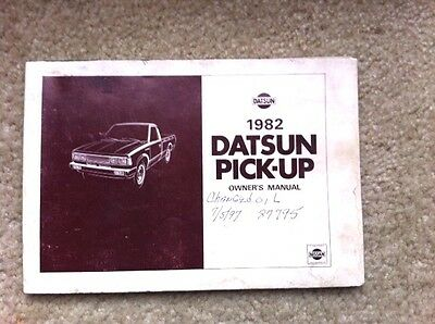 1982 Datsun Pickup Truck Owners Manual