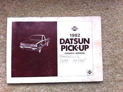 1982 Datsun Pickup Truck Owners Manual