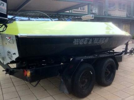BULLET CUSTOM RACE BOAT WITH 225HP JOHNSON Gawler West Gawler Area Preview