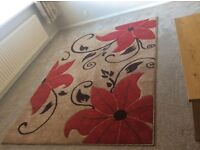 Large Fleur Verona 2766 Floral Hand Carved Dense Pile Modern Rug