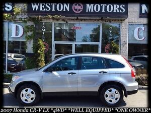 2007 Honda CR-V LX* 4WD*ONE OWNER*NEW TIRES*100% APPROVED!